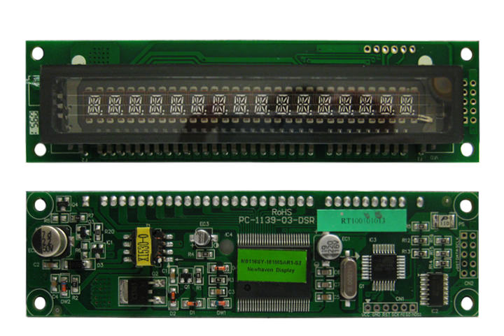 VFD Alphanumeric Modules